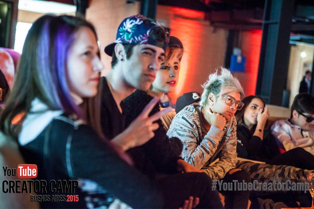 @Daibhernandez @AlejoIgoa @JuanamartinezH y @Juanjaramilloe durante el #YouTubeCreatorCamp en Buenos Aires http://t.co/PKYrJnF46N