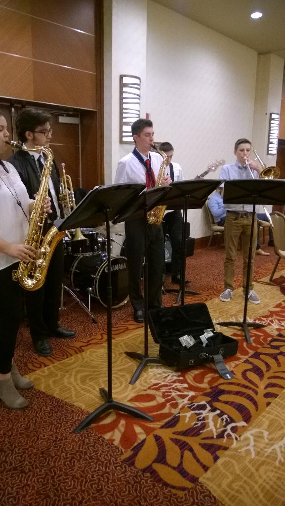 Thank you Stadium High School Jazz Band for entertaining us during our reception. #TTLSummit http://t.co/g5DYSrhBB9