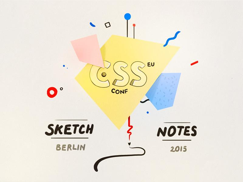 Spending the day #sketchnoting at #cssconfeu in Berlin today. Stay tuned for a mountain of nerdy web illos @CSSconfeu http://t.co/apZ5dKDUkU
