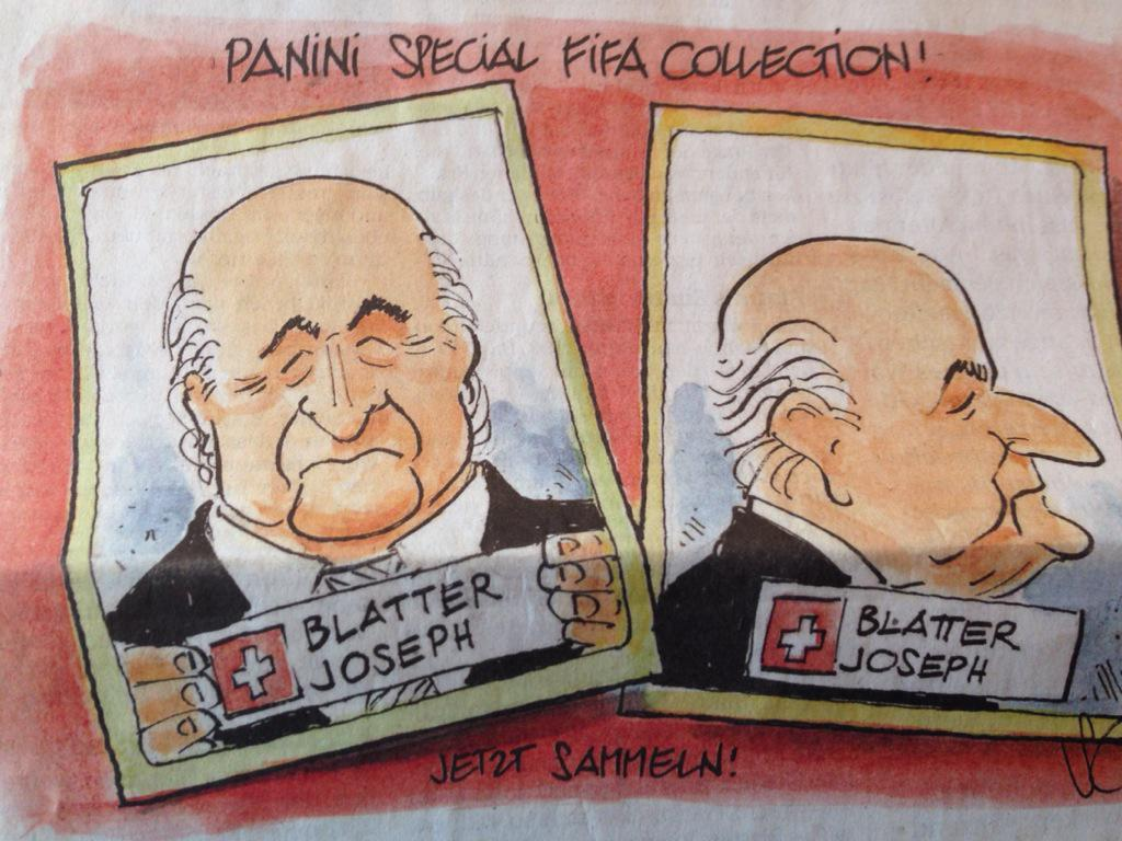 Blatter cartoon in the Swiss papers this morning... http://t.co/xssIZ9dIZN