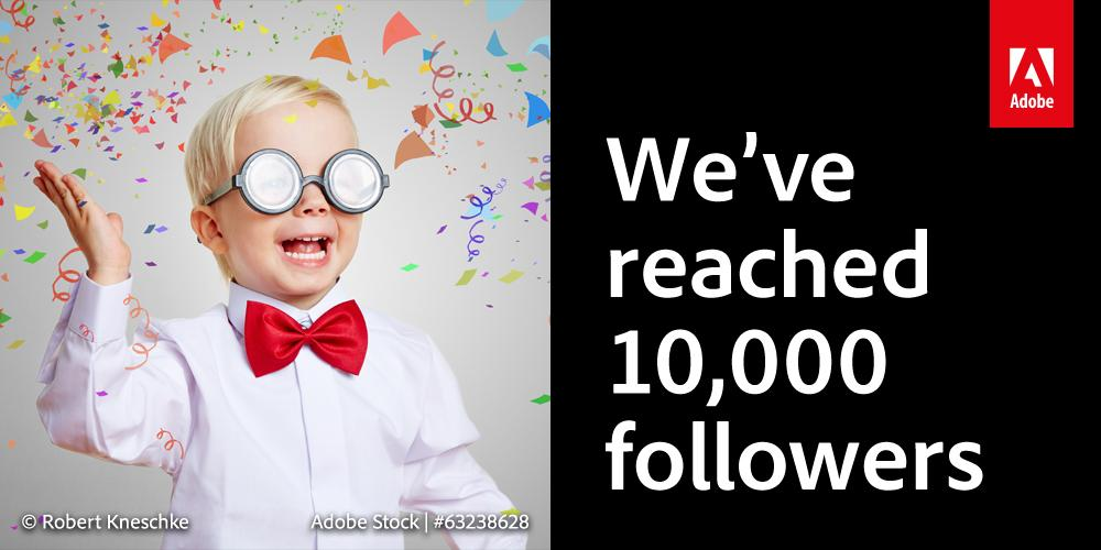 We've got 10,000 followers! RT for a chance to #WIN an annual subscription to #CreativeCloud! http://t.co/EZp0EaLssy http://t.co/wbsq9rW4KR