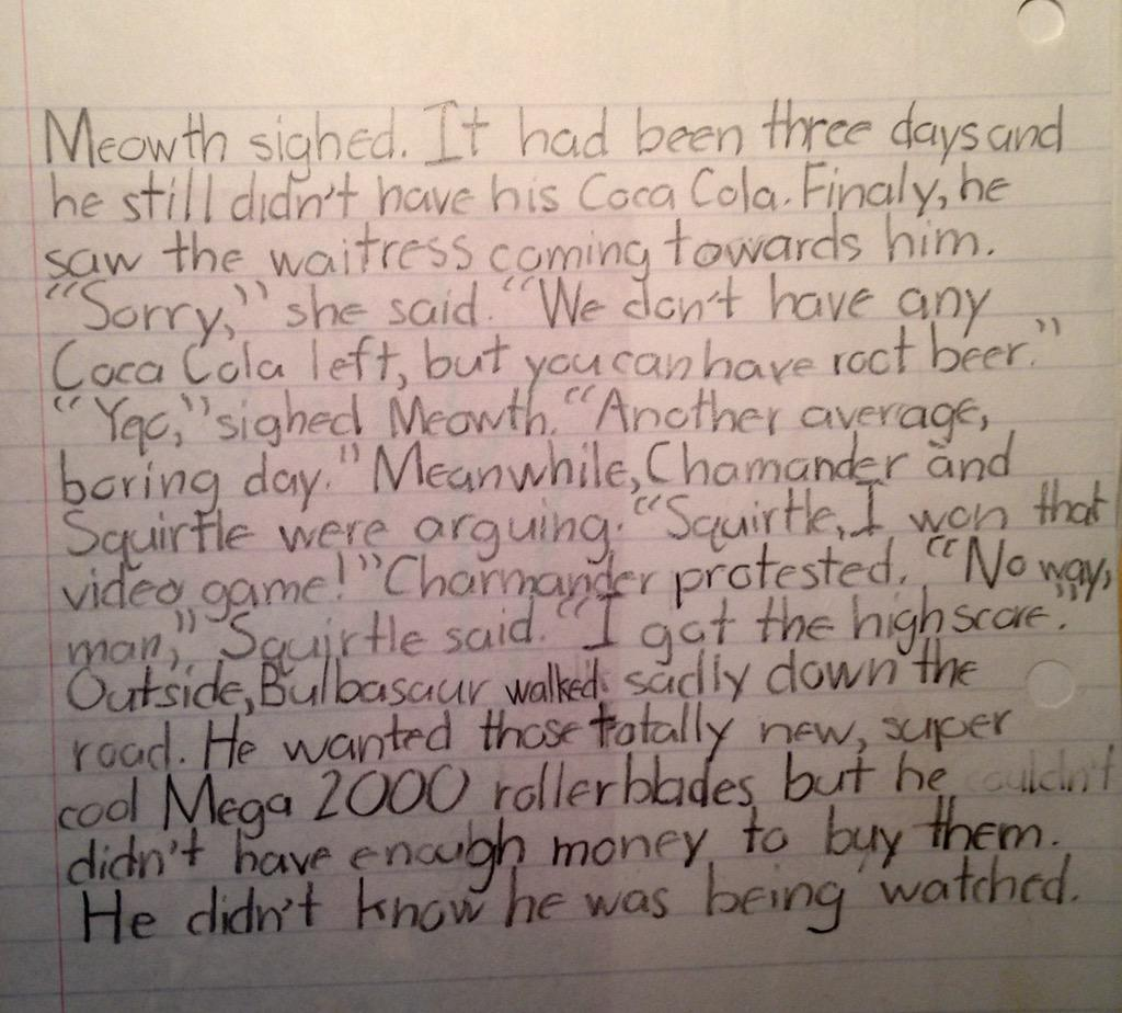 FOUND SOME COOL FANFICTION I WROTE IN 1998 http://t.co/Shr9jmi9Tk