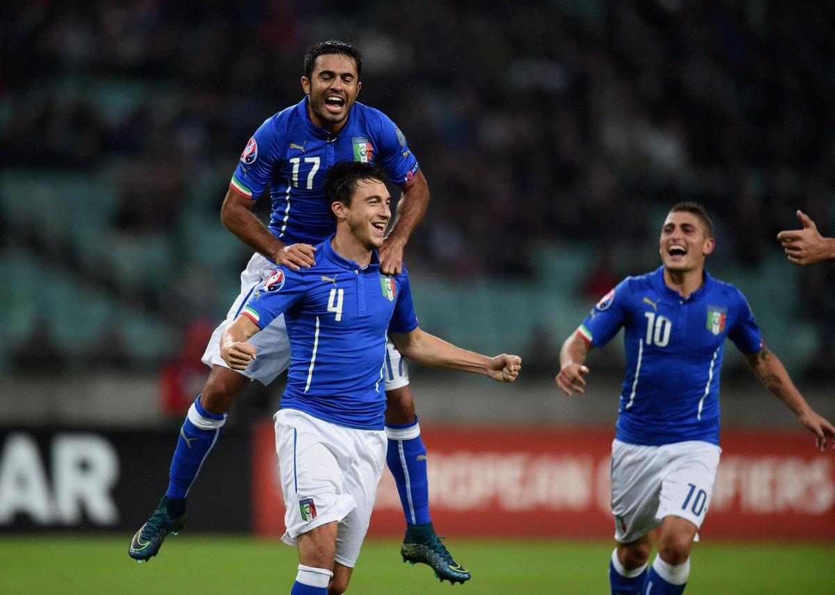 Matteo Darmian realizza il suo primo gol in nazionale firmando il definitivo 1-3.