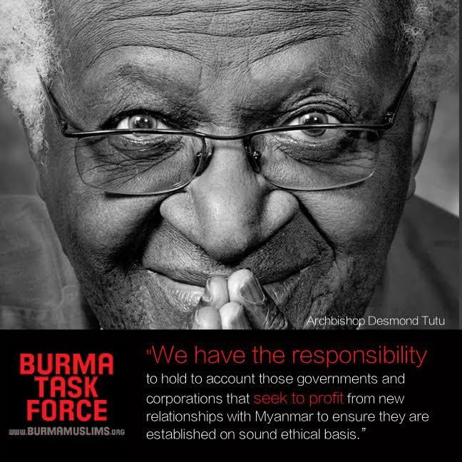 """""""We have the responsibility to hold account those governments"""" -Desmond Tutu on #Rohingya genodice #LetRohingyaVote https://t.co/tDMyJYmRNA"""