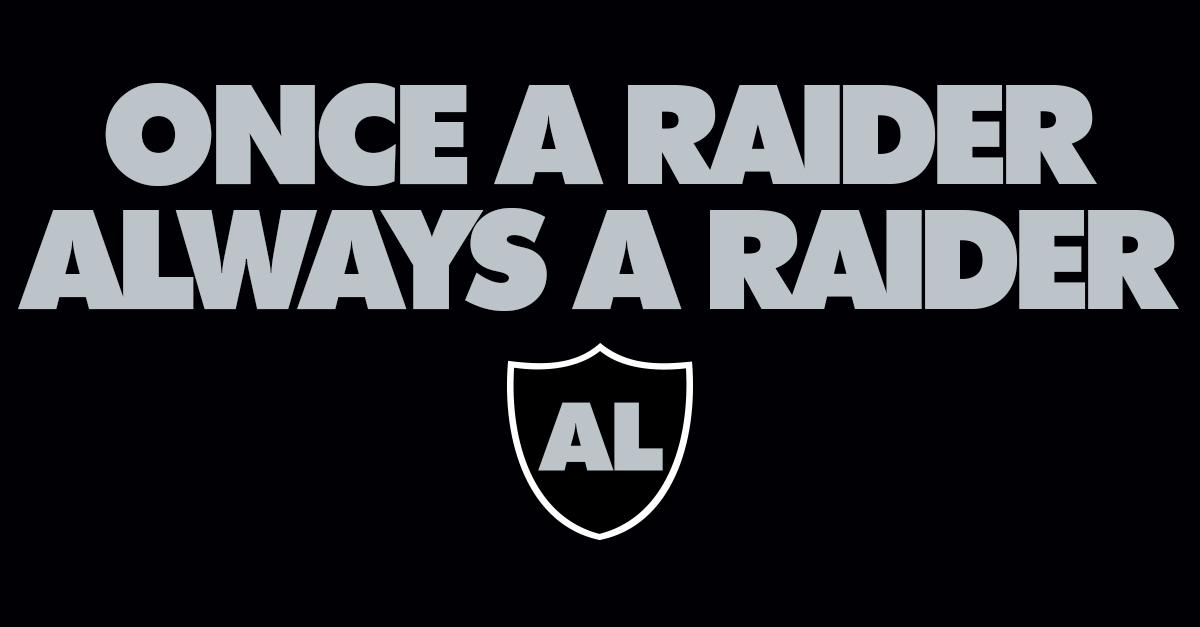 oakland raiders on twitter quotonce a raider always a