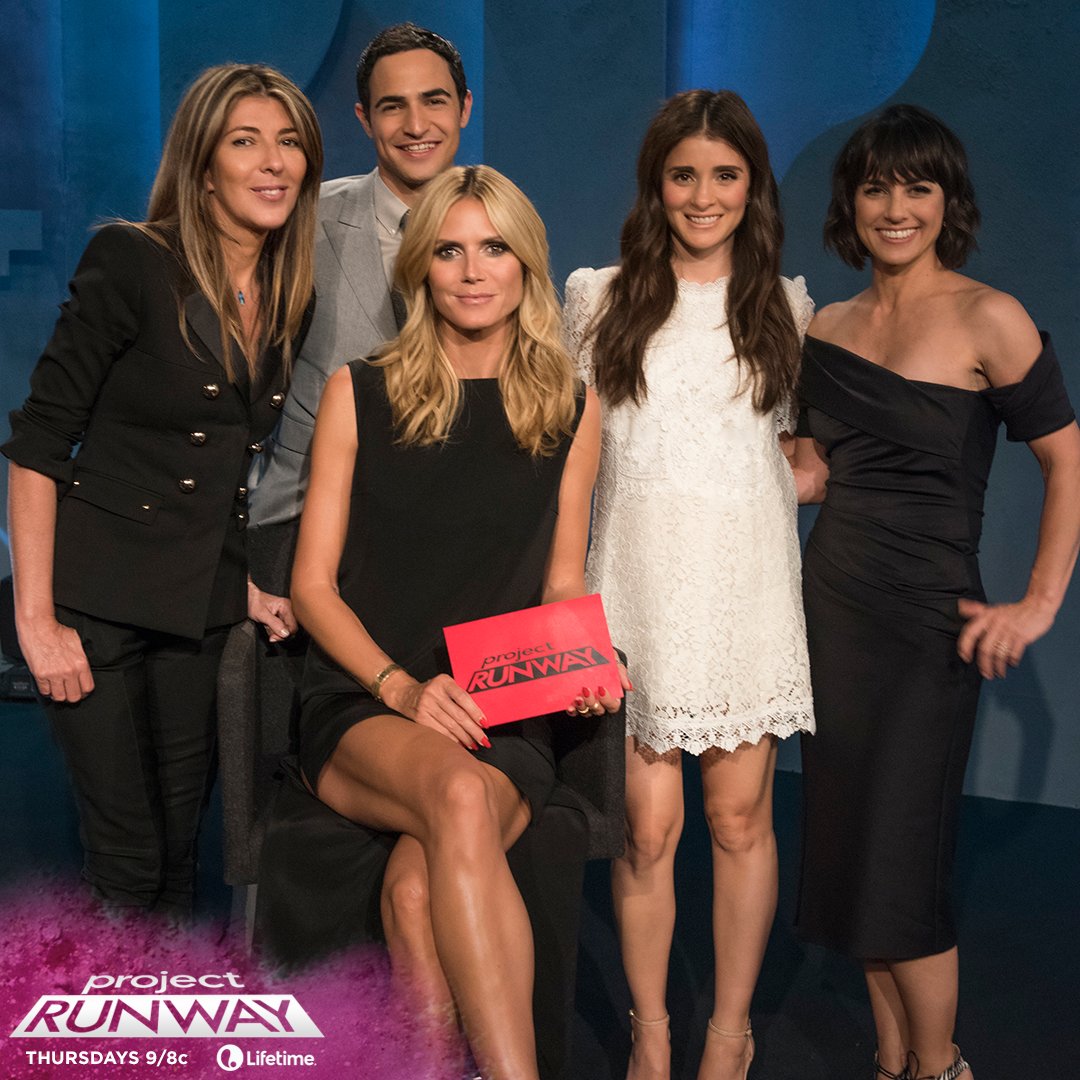 Our #CrewsAllIn tonight when @ShiriAppleby and @ConstanceZimmer from @unreallifetime guest judge on @ProjectRunway http://t.co/d8u5TotAaw
