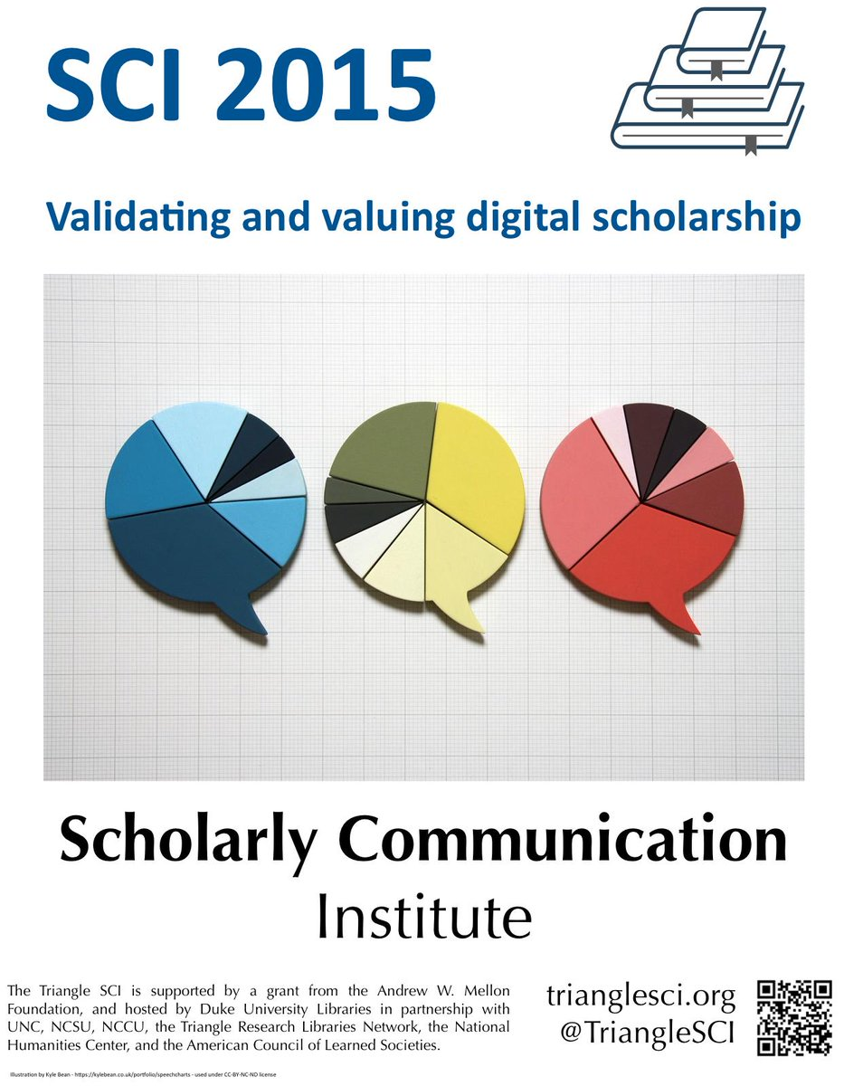 This year's #TriangleSCI theme: Validating and valuing digital scholarship http://t.co/1rCZsf0bst http://t.co/BVrc2x5FCv