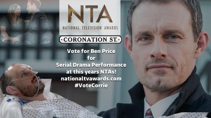 RT @itvcorrie: Nick's been such a support for Carla. Now Ben Price needs you! Vote here: http://t.co/ys31wRMP7G #corrie #NTA2016 http://t.c…