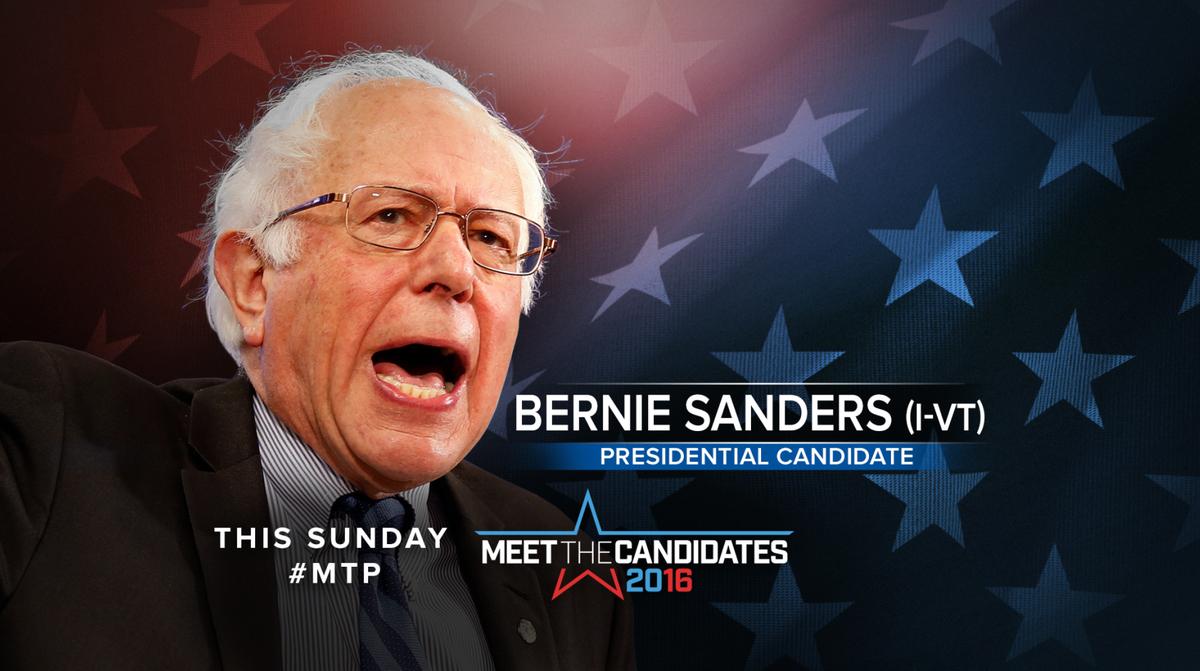 TUNE IN SUNDAY: @BernieSanders joins @MeetThePress with @ChuckTodd #FeeltheBern #IfItsSunday