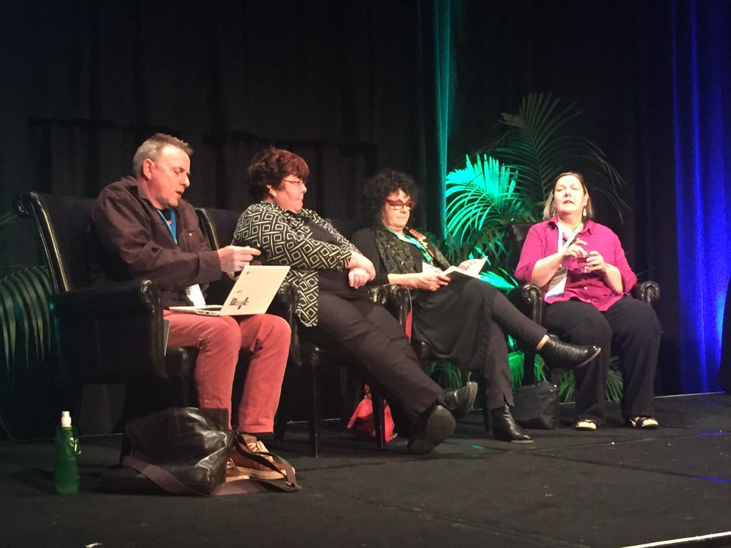 What a brilliant group of educators. Ready for the panel discussion this is going to be awesome! #ulearn15 http://t.co/2H0YSr1e9M
