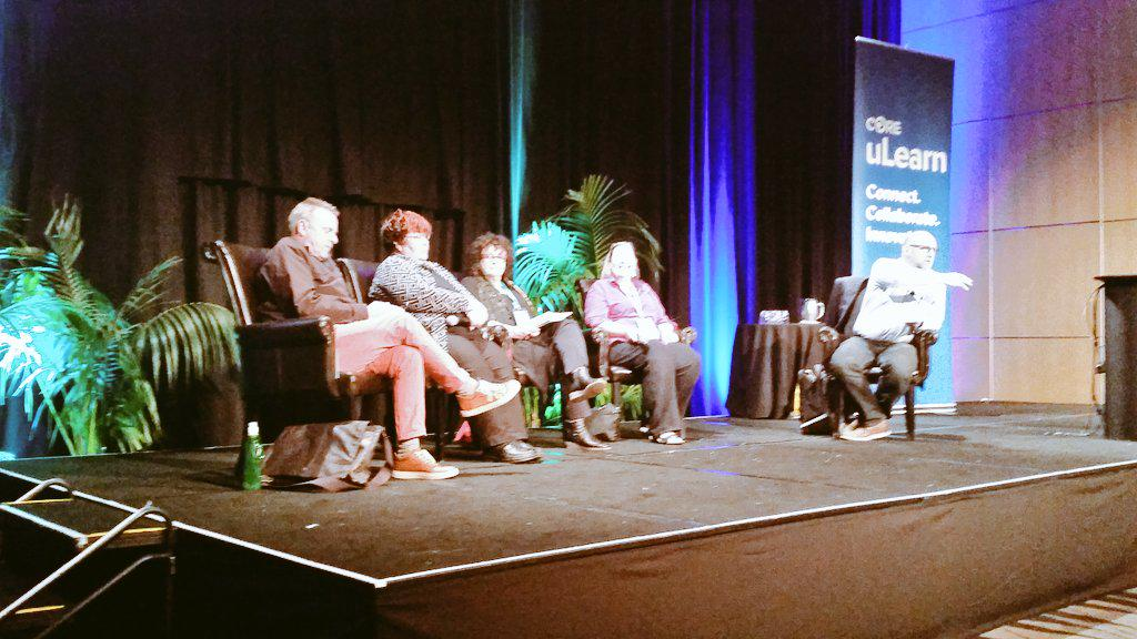 Education 2050 - panel discussion kicking off w @dwenmoth  @ULearnNZ #ULearn15 #CENZ15 @coreeducatio http://t.co/oKN2vL0KUf
