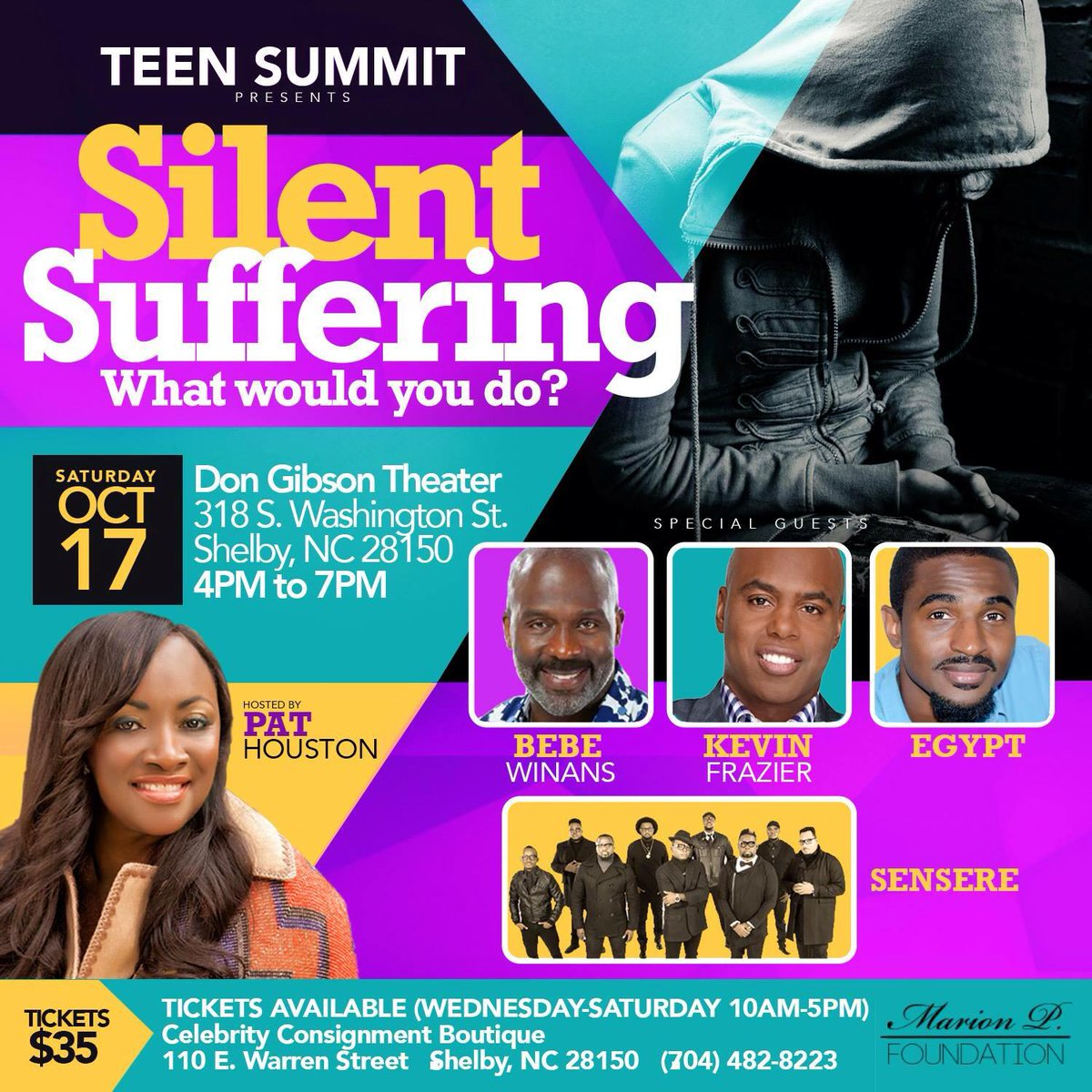 Teen Summit persents Silent Suffering ft. Bebe Winans, Kevin Frazier, Egypt, and Sensere