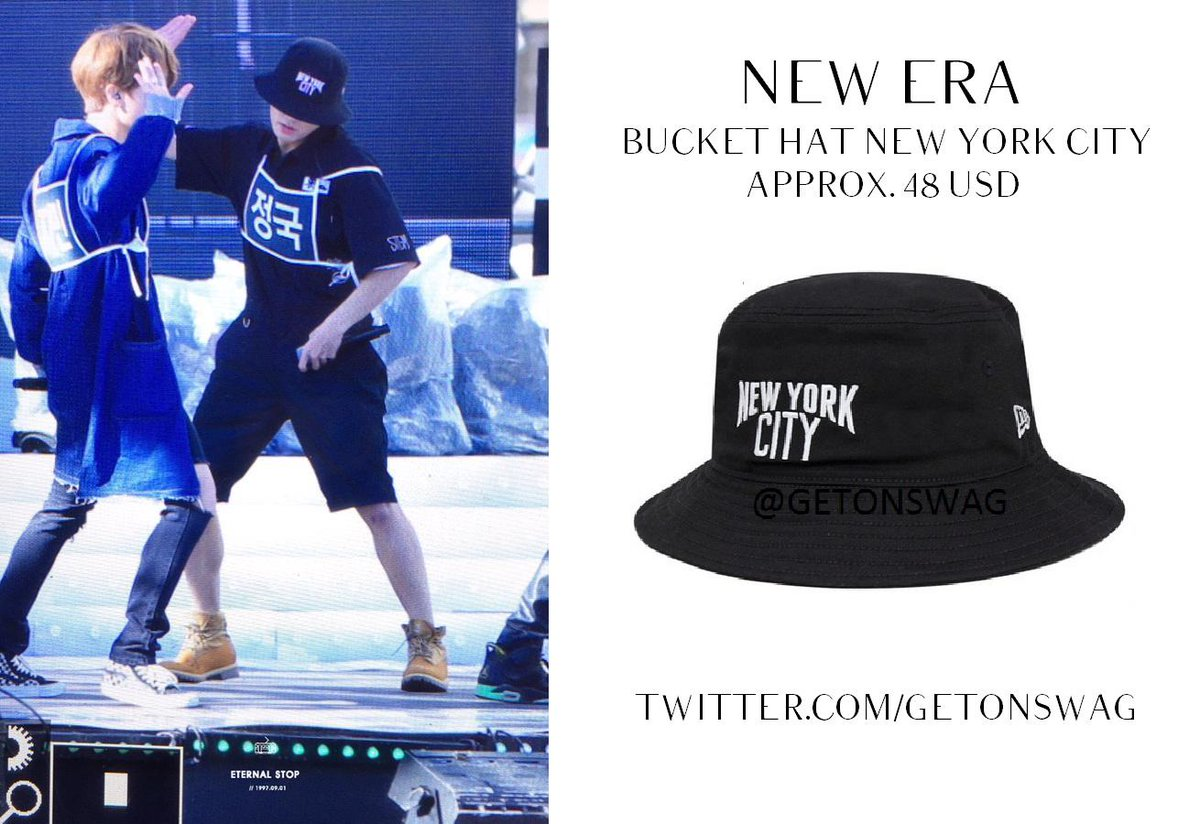 Beyond The Style Alex On Twitter Jungkook Bts 151009 Jungkook New Era New York City Bucket Hat Black Bts Twt Http T Co K3z96jtepw