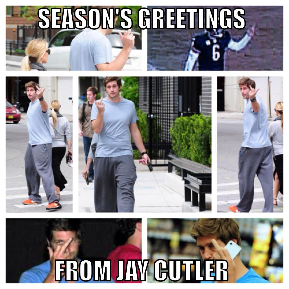 Season Greetings From Jay Cutler