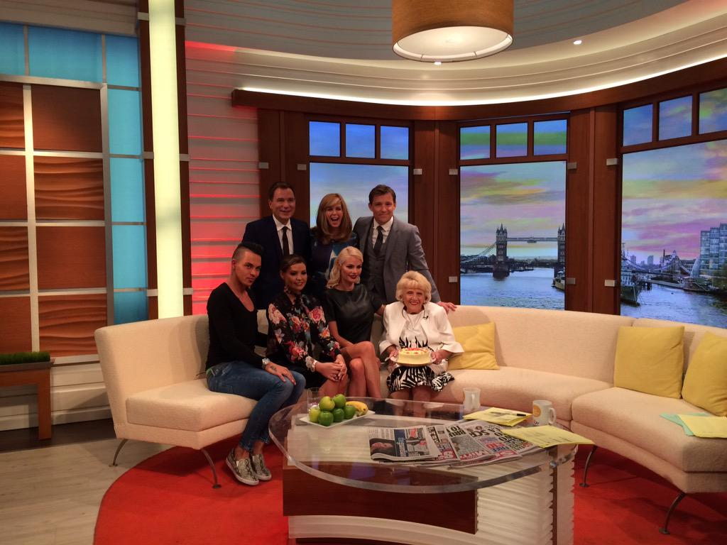 Thank you for having us today @GMB @benshephard @kategarraway #TOWIE http://t.co/HKRW5wp3Nr