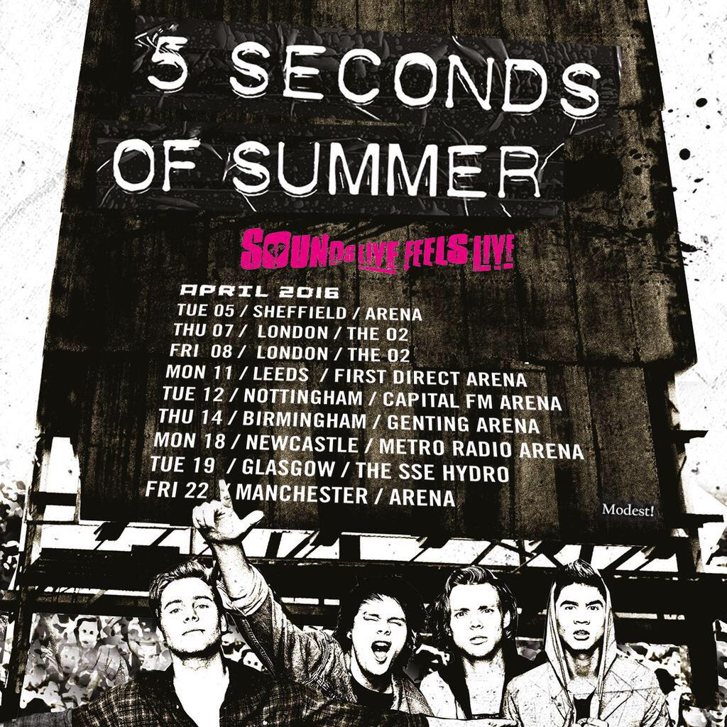 Seconds of Summer: Sounds Like Feels Live Tour | Shoreline .