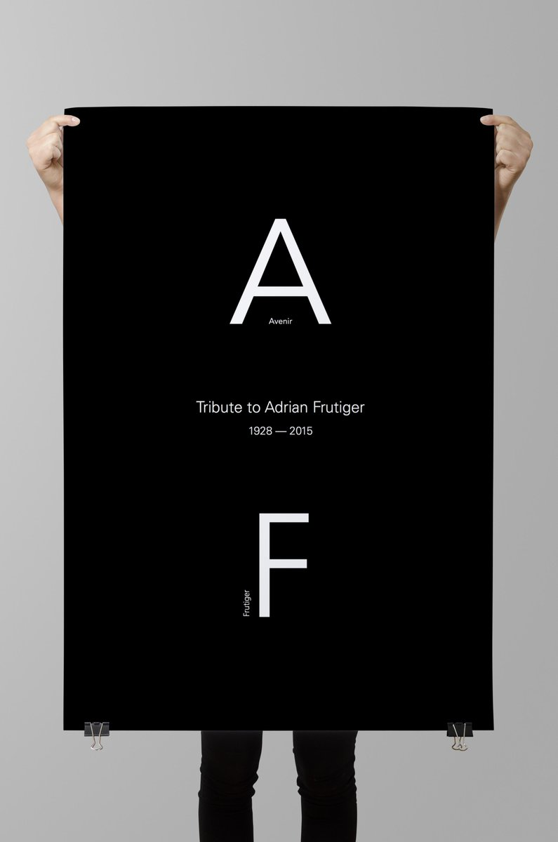 Heury & Heury have made a wonderful tribute to Swiss type designer Adrian Frutiger. — http://t.co/bl1cMke0Ym #design http://t.co/2sIK6E74to