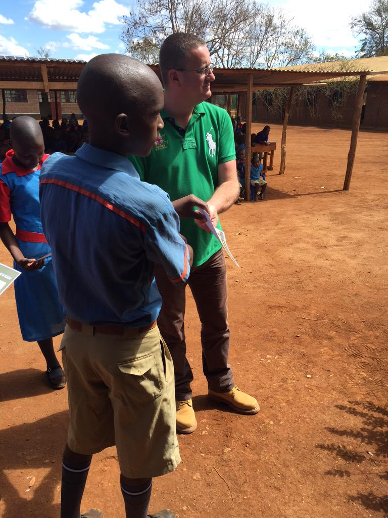 Uragate school #merukenya. Graham care, Terry, presents David with sponsorship to attend conservation retreat.  <br>http://pic.twitter.com/YkGInwassg