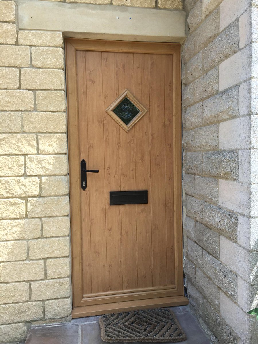 The Homeowners Chose A Composite Door In Irish Oak With A