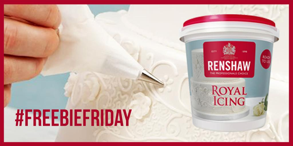 It's #FreebieFriday and we're giving away 3 pots of our royal icing! RT and follow @RenshawBaking to enter and #win! http://t.co/fSVgjPYo0W
