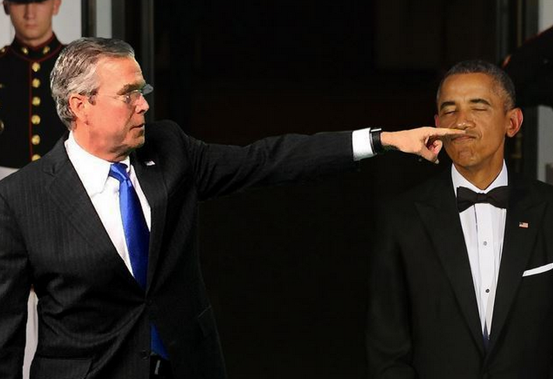 .@JebBush pointing at things is the new Kim Jong looking at things http://t.co/lZnYBnKKbv
