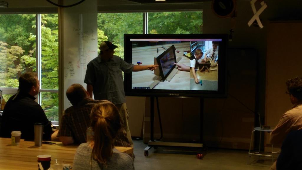 Kindergarten developed iPad stand via tinkering w @JimTiffinJr #mvcollider http://t.co/9SHfQGWJDr