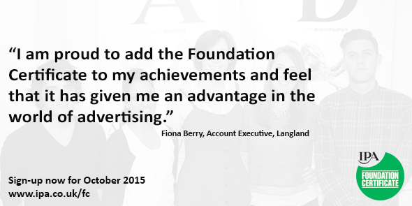 RT @IPA_Updates: Boost your career in advertising with our #awardwinning Foundation Certificate. #IPAFC http://t.co/r3LaIEVIcA http://t.co/…