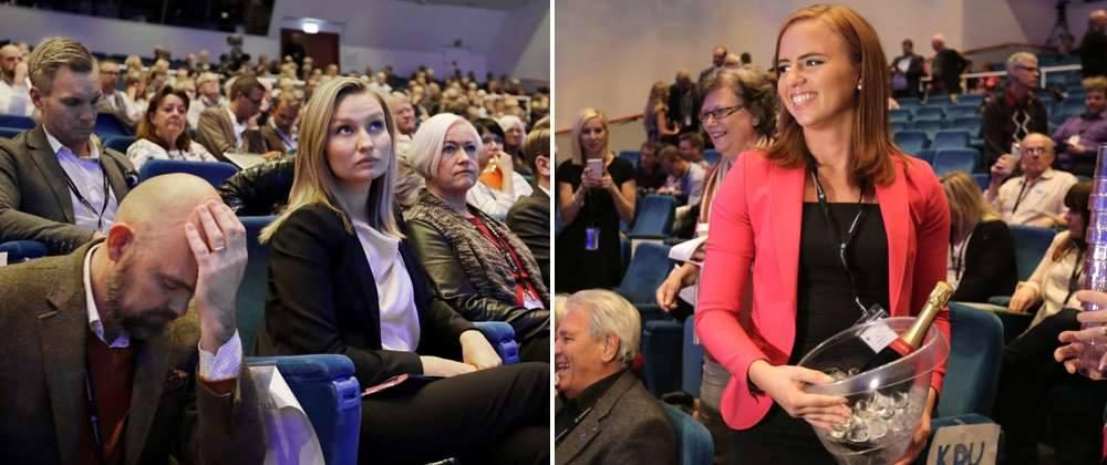 Den här bilden från DN.se om #kdting beslut om att lämna Decemberöverenskommelsen säger allt (151 vs 103 röster) http://t.co/zGmlvFwPYB