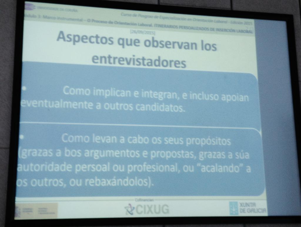 #polab15 En qué se fijan los entrevistadores en los procesos selectivos en los que utilizan dinámicas de grupo http://t.co/6oBStSQRsp