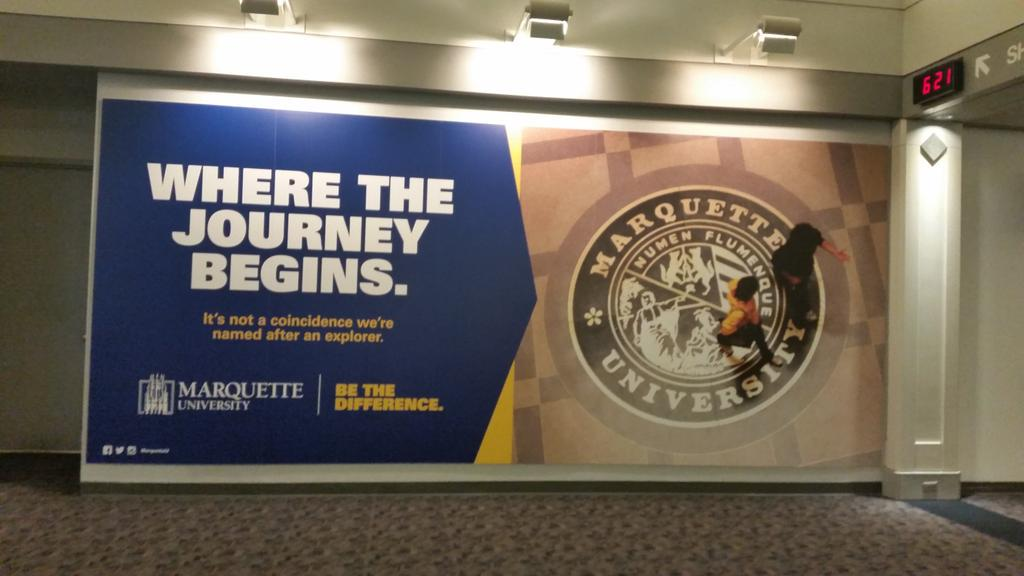 Pretty pumped to see this @MarquetteU poster as I head off to Boston. #exploring #nasw2015 #ScienceWriters2015 http://t.co/jbsyzoYWHG