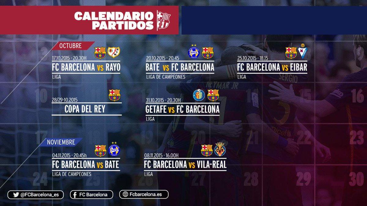 Calendario Del Barca.Fc Barcelona On Twitter Las Fechas Y Los Horarios De Los Proximos