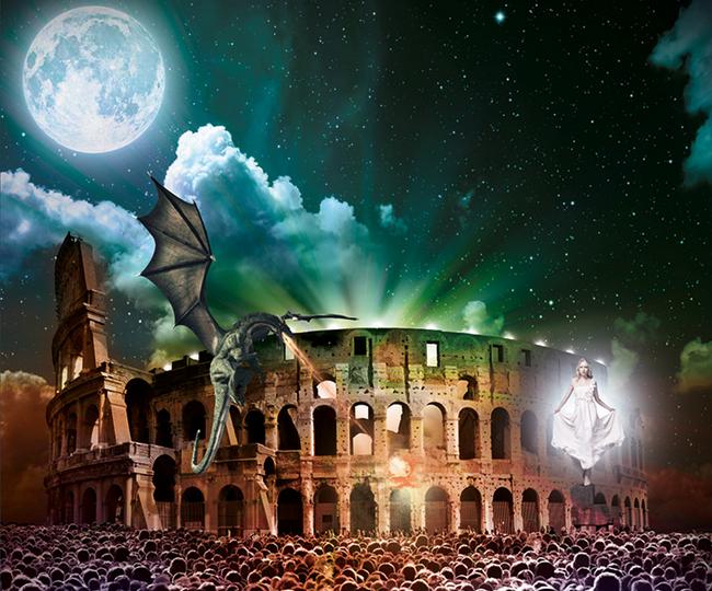 Legenda Aurea: Giochi di luce al Colosseo