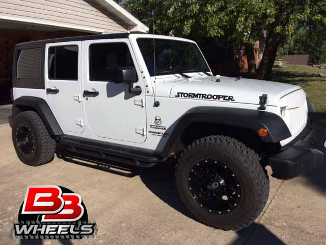 bb wheels on twitter 17x9 dropstars 645b wheels on a jeep wrangler stormtrooper thanks. Black Bedroom Furniture Sets. Home Design Ideas
