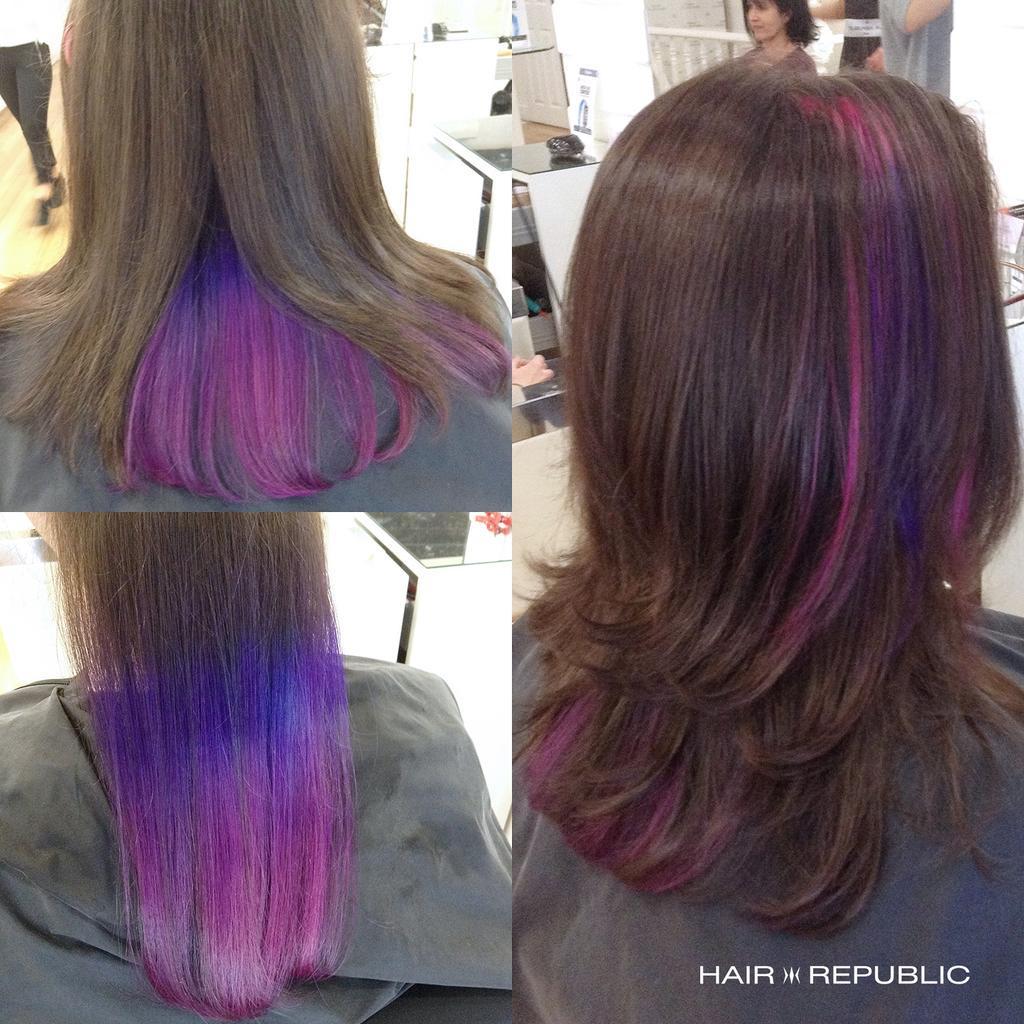 Hair Republic On Twitter Quot Blue To Purple Peekaboo Ombre