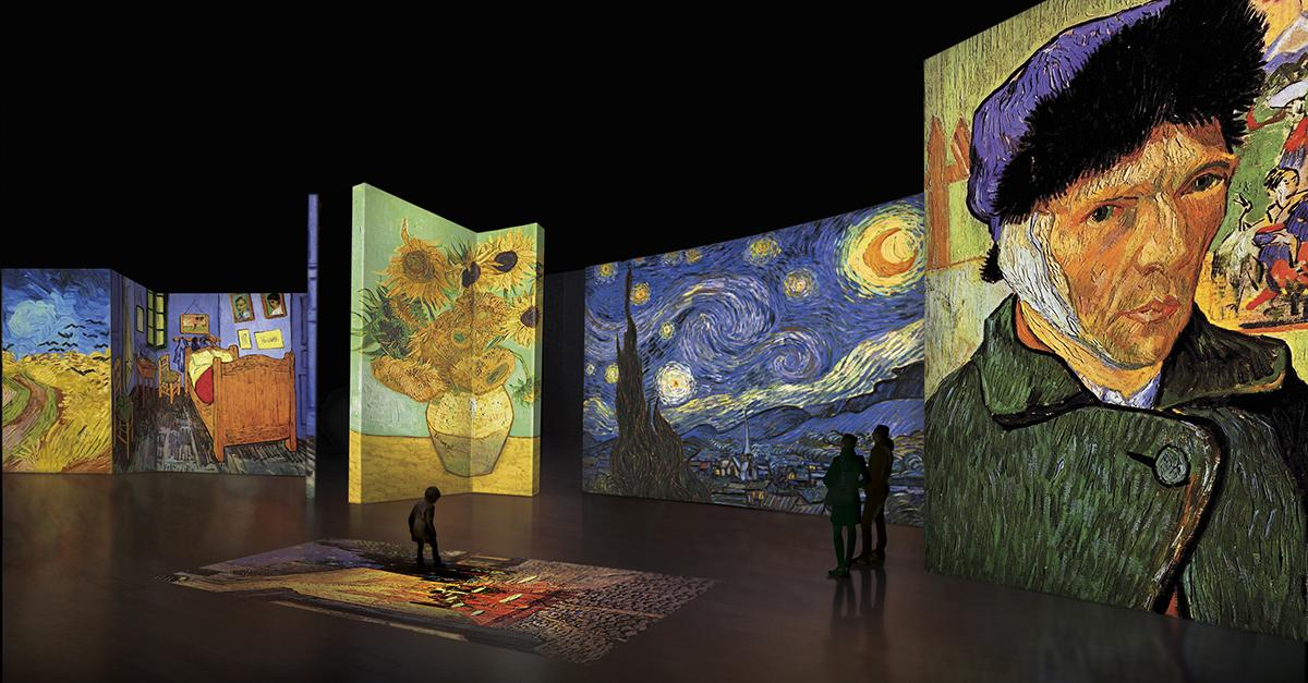 """Tonight: """"Van Gogh Alive — The Experience"""" opens. An unforgettable multi-sensory experience http://t.co/YhfgR7XrAr http://t.co/v1ZzG3Yorv"""