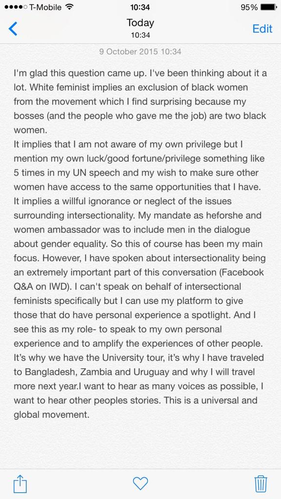 "bell hooks s response what makes beyonce s lemonade a strong  emma watson s response to ""white criticism"""