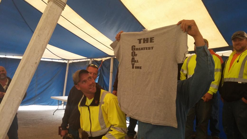 #topeka again gets multiple awards in excavator #snowplowrodeo. Fincham got another 1st place + shirt from the team http://t.co/b8yFXZUEBS