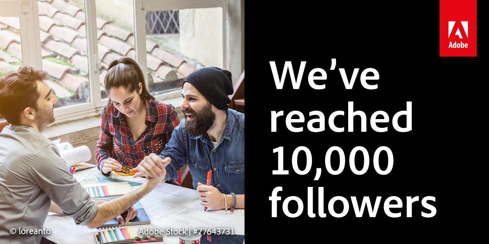 We've got 10,000 followers! RT for a chance to #win an annual subscription to #CreativeCloud: http://t.co/eWtu6ZFPxc http://t.co/FzdgmeyH9E
