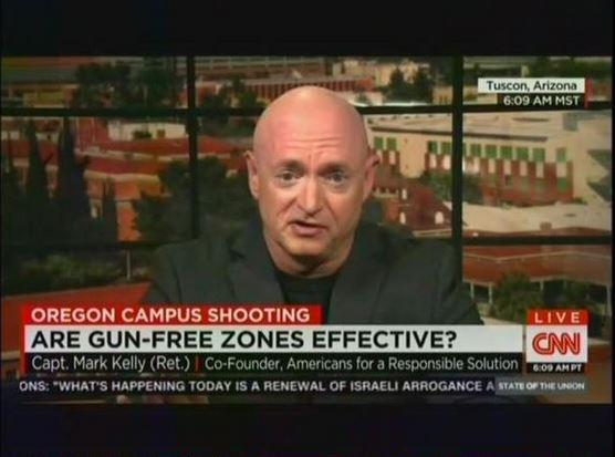 """""""@mmfa: Watch Mark Kelly expertly debunk the myth that """"gun-free zones"""" attract shooters: http://t.co/vpDk3tEPW2 http://t.co/AQS0lwhINW"""