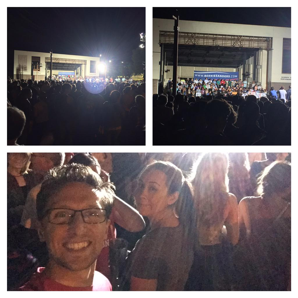 Checking out the #BernieInTucson rally. Do you #FeelTheBern? @VisitTucsonAZ http://t.co/kVkVnpuN1E