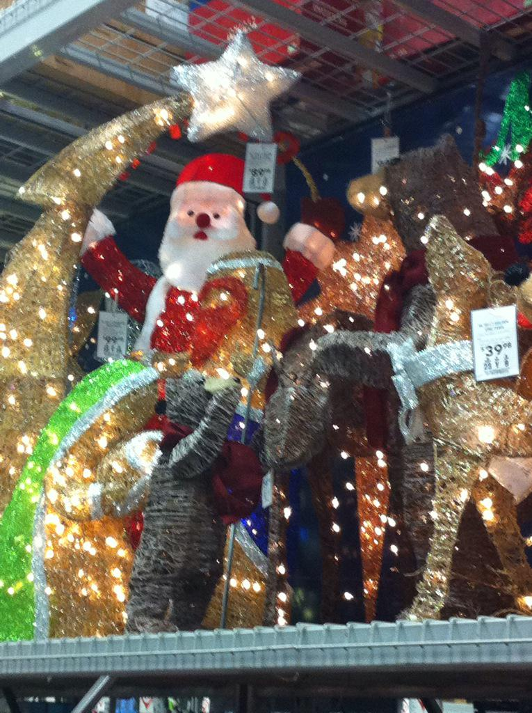 jeff oneil on twitter wow stopped at lowes christmas decorations already out the cashier actually said merry christmas to me