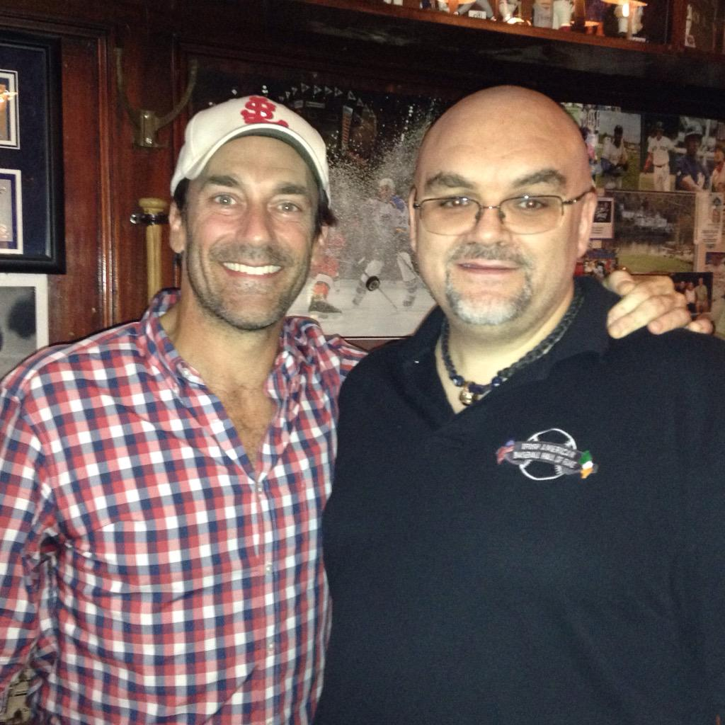 You never know who you might meet at Foley's NY! Jon Hamm stopped in to watch the game tonight. #12inSTL http://t.co/trHJwSpHGm