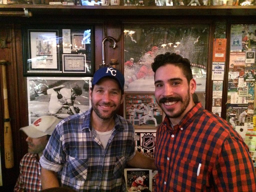 Paul Rudd is here tonight! You never know who you might meet at Foley's! http://t.co/bs6pHCGuL2