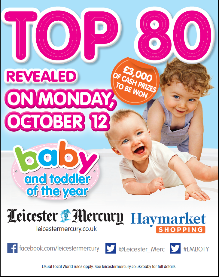 RT @LeicsMercury: Leicester_Merc : Baby of the Year Top 80 is out with your Leicester Mercury on Monday 12th… http://t.co/A7ZZe0YjAe) http:…