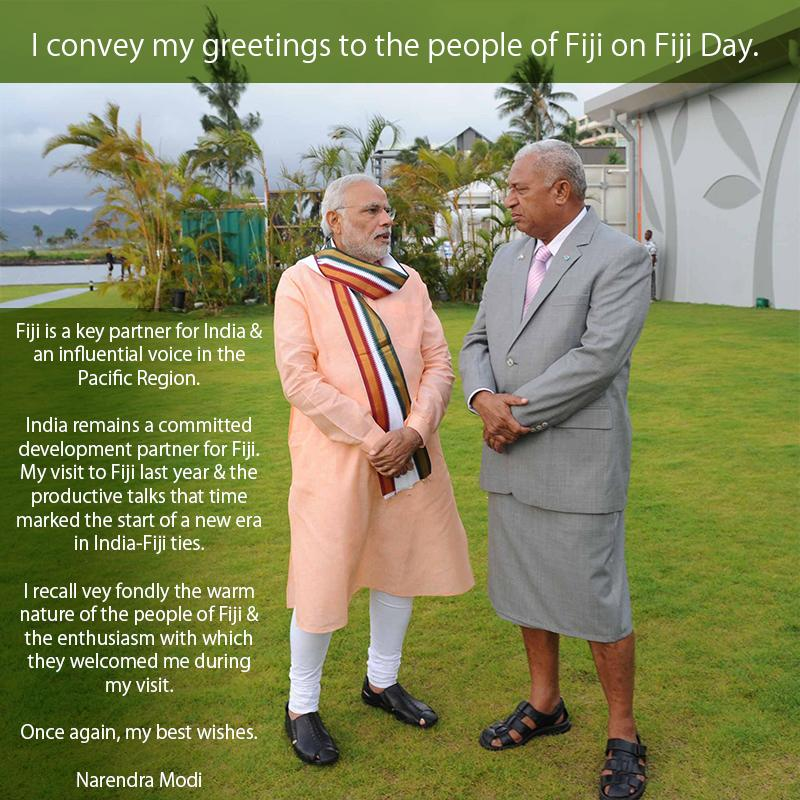 Pm conveys his greetings to the people of fiji on fiji day i convey my greetings to the people of fiji on fiji day the prime minister said m4hsunfo