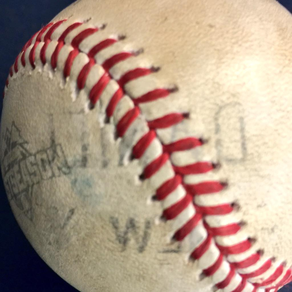 Daniel Murphy branded his name onto a baseball on a HR