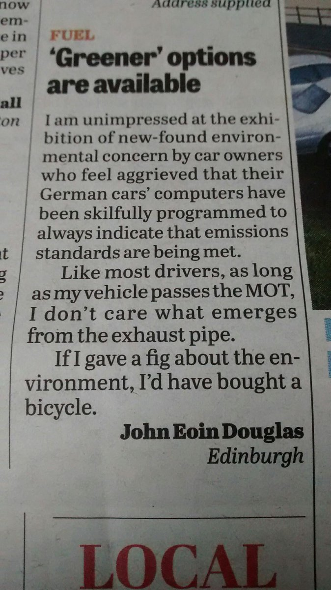 Uncharacteristic honesty in the letters page of this week's @thenewsguardian: http://t.co/UkcsaJQglG