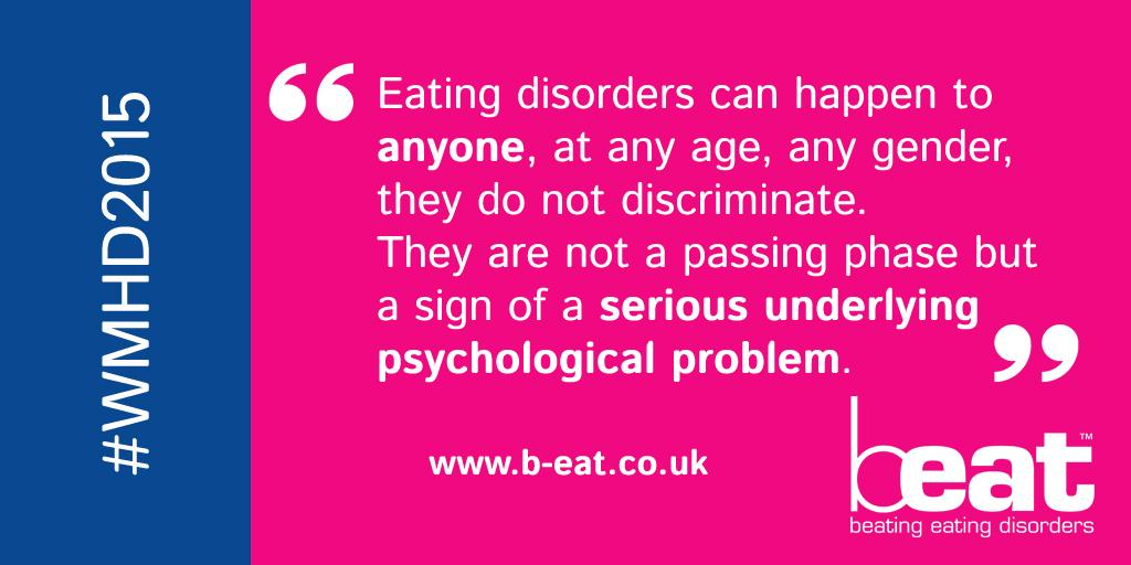 It's World Mental Health Day! We asked our followers what they want others to know about #eatingdisorders #WMHD2015 http://t.co/Rl7UzCsPpR