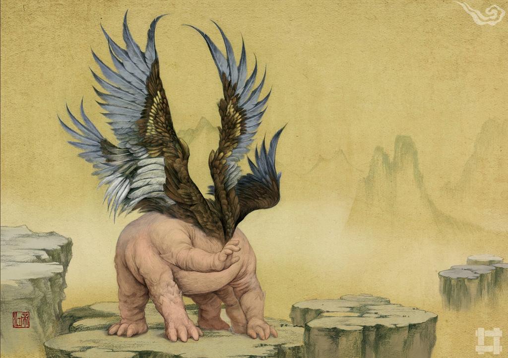 劉力文による「山海獣」。奇書と呼ばれる『山海経』の怪物たちを現代風に描いています。