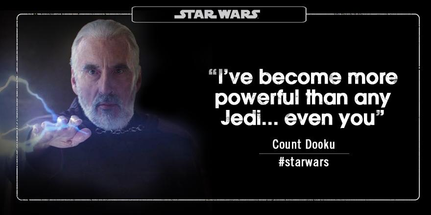 Star Wars Aunz On Twitter Count Dooku Ive Become More Powerful